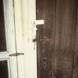 Door hardware, Warlick-Huffman Farm, Bandy's Township, Catawba County, North Carolina