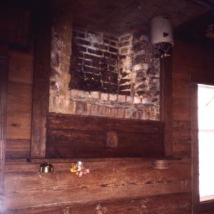 Fireplace, Lewis Freeman House, Pittsboro, Chatham County, North Carolina