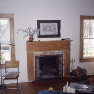 Interior view with fireplace, Lewis Freeman House, Pittsboro, Chatham County, North Carolina