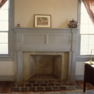 Fireplace, Hall-London House, Pittsboro, Chatham County, North Carolina