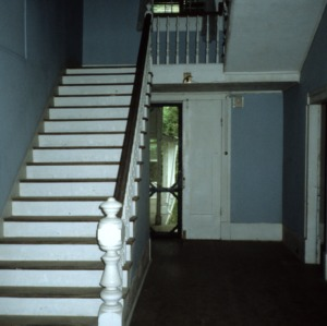 Interior view with stairs, Haughton-McIver House, Gulf, Chatham County, North Carolina