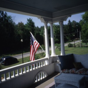 Porch with columns, Haughton-McIver House, Gulf, Chatham County, North Carolina