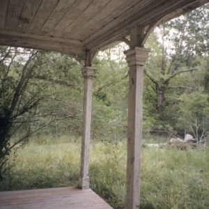 Porch with columns, John A. Mason House, Chatham County, North Carolina