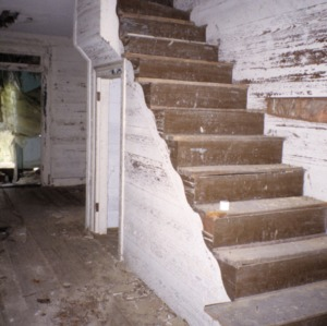 Interior view with stairs, John A. Mason House, Chatham County, North Carolina