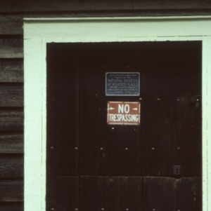 Doorway, Baldwin's Mill, Terrells, Chatham County, North Carolina
