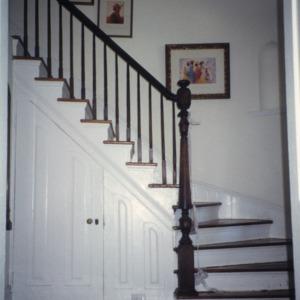 Stairs, Beverly Hall, Edenton, Chowan County, North Carolina