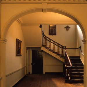 Interior view with stairs, Mulberry Hill, Chowan County, North Carolina