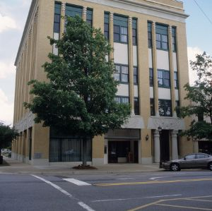 Front view, Masonic Building, Shelby, Cleveland County, North Carolina