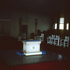 Interior view, Masonic Building, Shelby, Cleveland County, North Carolina