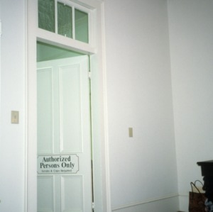Interior view with doorway, Dr. Victor McBrayer House, Shelby, Cleveland County, North Carolina