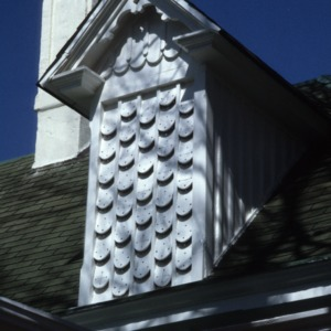 Exterior detail, Dr. Victor McBrayer House, Shelby, Cleveland County, North Carolina
