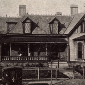 Front view, Dr. Victor McBrayer House, Shelby, Cleveland County, North Carolina