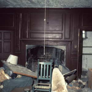 Interior view with fireplace, Clear Springs, Craven County, North Carolina