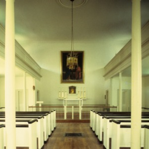 Interior view, St. Paul's Catholic Church, New Bern, Craven County, North Carolina