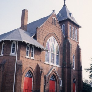 View, Hopkins Chapel A.M.E. Zion Church, Asheville, Buncombe County, North Carolina