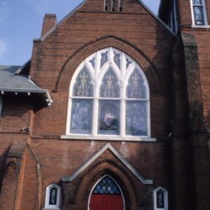 Partial view, Hopkins Chapel A.M.E. Zion Church, Asheville, Buncombe County, North Carolina