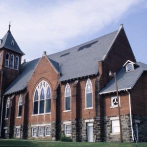 Side view, Hopkins Chapel A.M.E. Zion Church, Asheville, Buncombe County, North Carolina