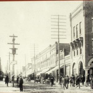 Street view, Cornwell Drug Store, Morganton, Burke County, North Carolina