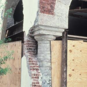 Exterior detail, Cornwell Drug Store, Morganton, Burke County, North Carolina