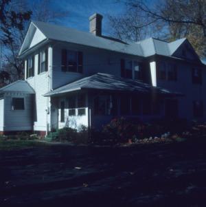 Rear view, George W. Wall House, Wallburg, Davidson County, North Carolina