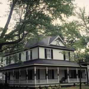 Front view, George W. Wall House, Wallburg, Davidson County, North Carolina