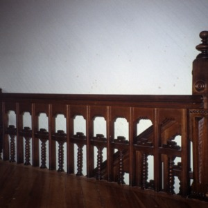 Balusters and newel, George W. Wall House, Wallburg, Davidson County, North Carolina