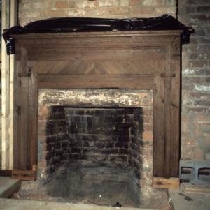 Fireplace, Jesse Clement House, Mocksville, Davie County, North Carolina