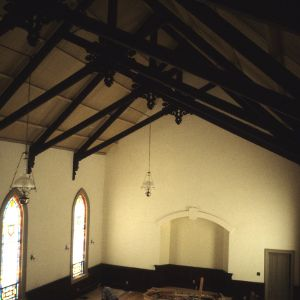 Interior view, Fulton United Methodist Church, Davie County, North Carolina