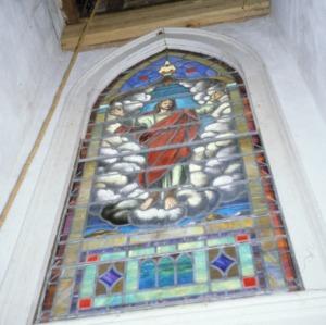 Stained glass window, Fulton United Methodist Church, Davie County, North Carolina