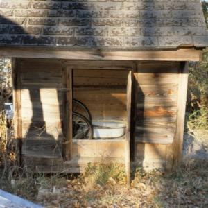 Outbuilding view, Leigh Farm, Durham County, North Carolina