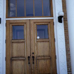 Doorway, Former Durham County Public Library, Durham, Durham County, North Carolina