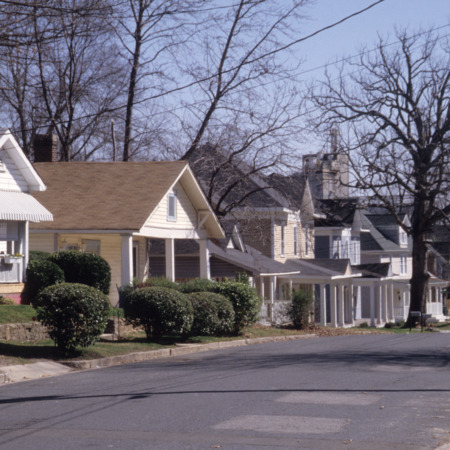 Houses, East Durham Historic District, Durham, Durham County, North Carolina