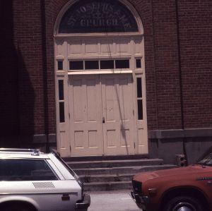 Doorway, St. Joseph's A.M.E. Church, Durham, Durham County, North Carolina