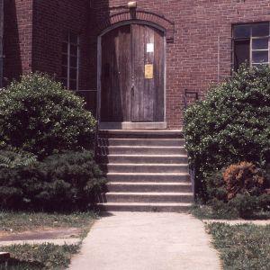Partial view with doorway, St. Joseph's A.M.E. Church, Durham, Durham County, North Carolina
