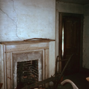 Interior view with fireplace, Coolmore, Edgecombe County, North Carolina