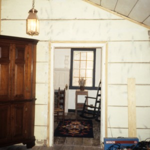 Interior view with doorway, Old Town Plantation House, Edgecombe County, North Carolina