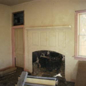Fireplace, Old Town Plantation House, Edgecombe County, North Carolina