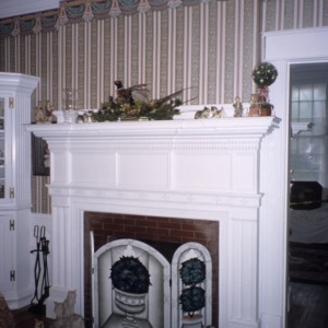 Interior view with fireplace, Wilkinson-Dozier House, Edgecombe County, North Carolina