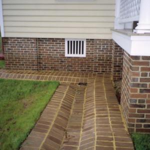 Exterior detail, Wilkinson-Dozier House, Edgecombe County, North Carolina