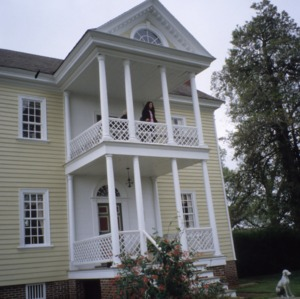 Exterior detail with porticoes, Wilkinson-Dozier House, Edgecombe County, North Carolina