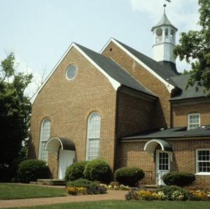 Front view, Bethania Moravian Church, Bethania, Forsyth County, North Carolina