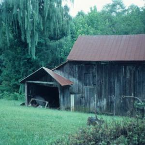 Outbuilding view, Reich-Strupe-Butner House, Bethania, Forsyth County, North Carolina
