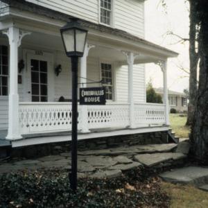 Porch, Reich-Strupe-Butner House, Bethania, Forsyth County, North Carolina