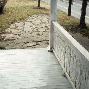 Porch detail, Reich-Strupe-Butner House, Bethania, Forsyth County, North Carolina