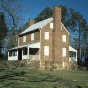 View, John Jacob Schaub House, Forsyth County, North Carolina