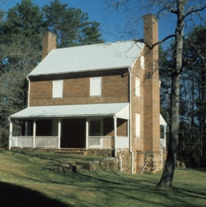 Front view, John Jacob Schaub House, Forsyth County, North Carolina