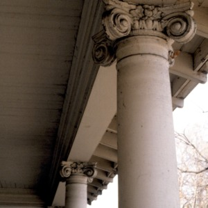 Column detail, Henry Leinbach House, Winston-Salem, Forsyth County, North Carolina