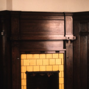 Fireplace, Henry Leinbach House, Winston-Salem, Forsyth County, North Carolina