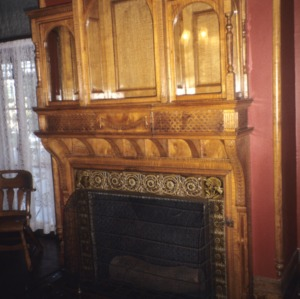Fireplace, Hylehurst, Winston-Salem, Forsyth County, North Carolina