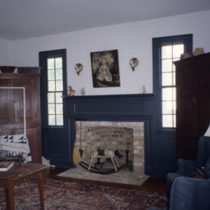 Interior view with fireplace, William A. Jeffreys House, Franklin County, North Carolina
